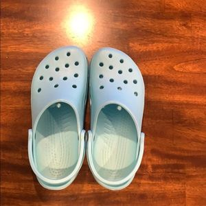 Light blue crocs!